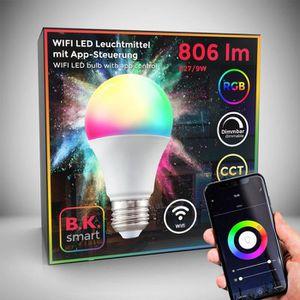 AMPOULE - LED Ampoule connectée LED choix de couleurs RVB CCT di