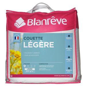 COUETTE BLANREVE Couette légère Polycoton 240x260 cm blanc