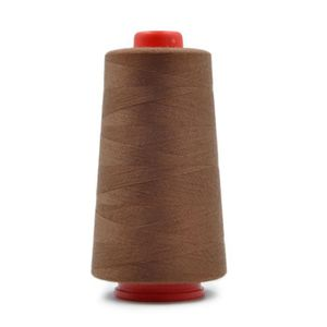 FIL A BRODER - A COUDRE Hicollie® 1x Marron Bobine Fil Couture Polyester C