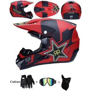 CASQUE MOTO SCOOTER Casque Moto Adulte Casque de Marque Motocross Raci