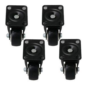 ROUE - ROULETTE Roulettes M8 à fond plat, noir, RDEXP, pivotantes,