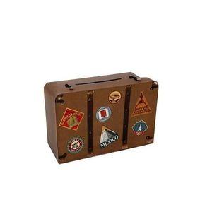 KIT DE DECORATION R/4856 - 1 Tirelire / Urne voyage en valise