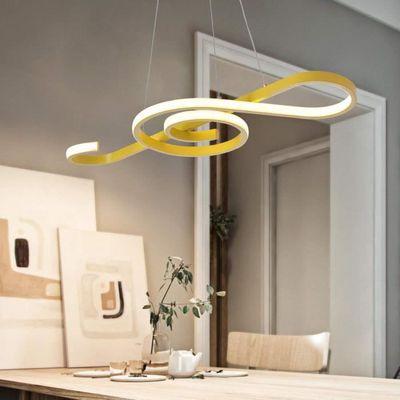 Jaune Suspension Led Lampe Pour Plafond Haut Lustre Note De