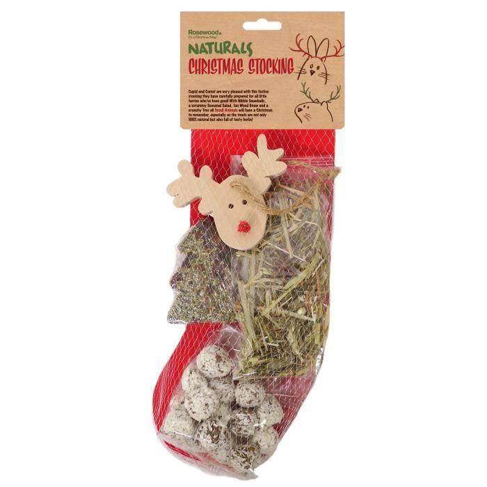 Friandises et jouets Chaussette de Noël - Pour rongeur