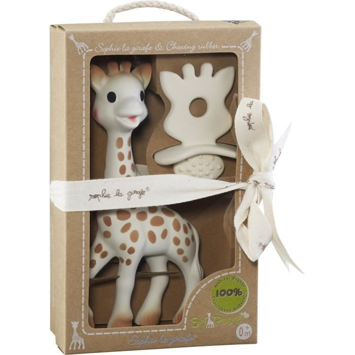 SOPHIE LA GIRAFE Coffret Natural Soother So pure - Jouet Sophie et sucette de dentition