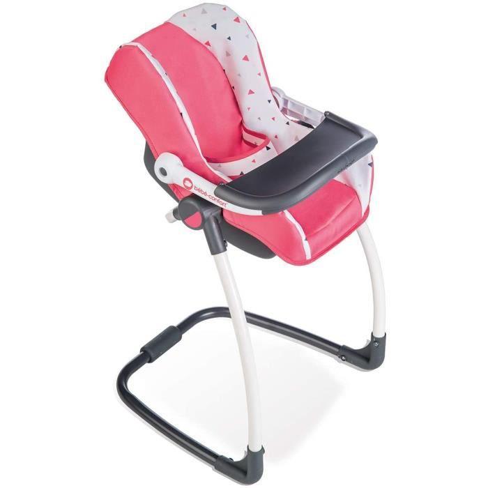 Smoby - Bébé Confort - Siège + Chaise Haute 3 en 1 - Pour Poupons et Poupées - Fonction Balancelle - 240231