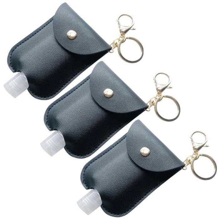 Pochette de désinfectant pour les mains jetable portable étui de clé pour désinfectant pour les mains en plein air 3 pièces ke2084