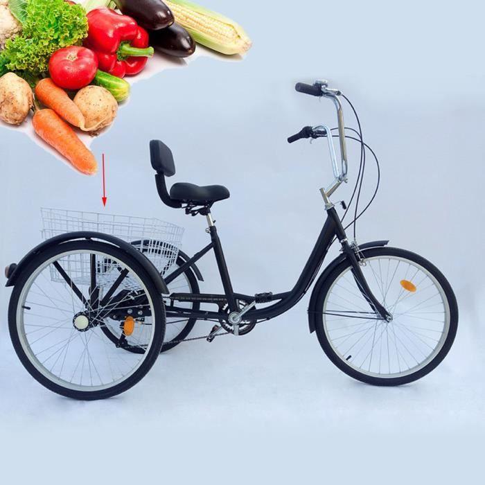 Tricycle pour adultes 6-Tricycle-Adulte-24-034-Adulte Tricycle âgé Adulte , Noir