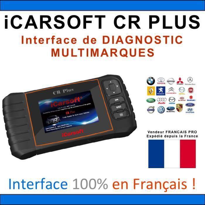 iCARSOFT CR PLUS + Accessoires Valise Diagnostic MULTIMARQUES PRO - AUTOCOM / DELPHI / ELM