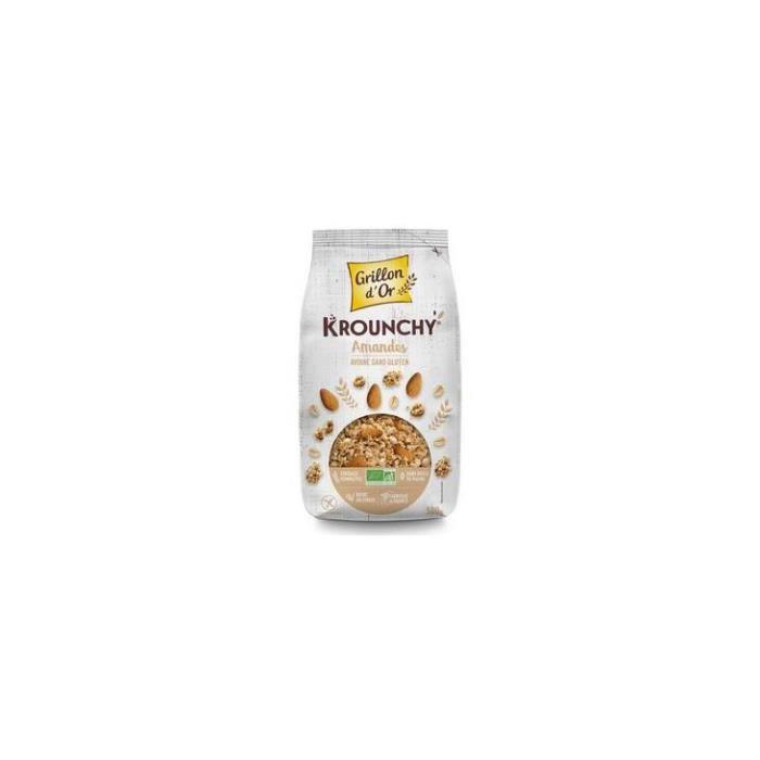 Krounchy amande avoine sans gluten 500gr - Grillon d'or