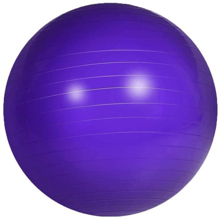 GYM BALL on dexercice 45Cm AntiBurst Gym Ball with Pump Swiss Ball for Yoga Pilates Pregnancy Fitness Purple1413