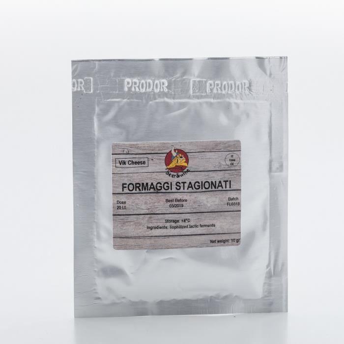 Formaggi Stagionati 20g / 20L - Ferment Fromage - Fromage Italien - Ferment Lactique - Les bactéries de fromage