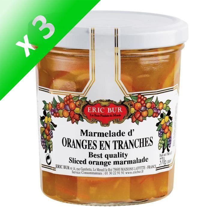 [LOT DE 3] Confiture orange en tranches - Eric BUR
