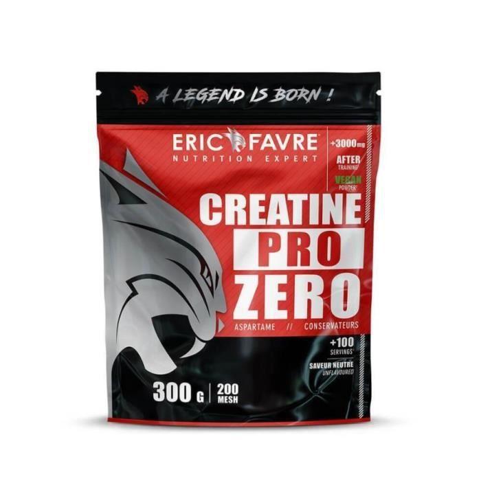 PURE CREATINE MONOHYDRATE Pro Zero - Qualité Micronisée – Complément pour Sportifs - Laboratoire Français Eric Favre
