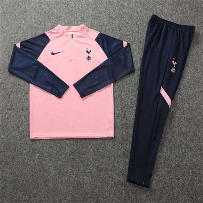 Tenue de Foot Enfants Tottenham Hotspur - Maillot de Foot Homme Garcon Enfants 20-21 Survêtements de Foot(Haut + Pantalon)