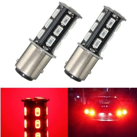 LED Ampoules Red - 2 lumières 2pcs P21 - 5W BAY15D 380 1157 ROUGE BLANC 18 SMD 5630 STOP Hayon DC12V