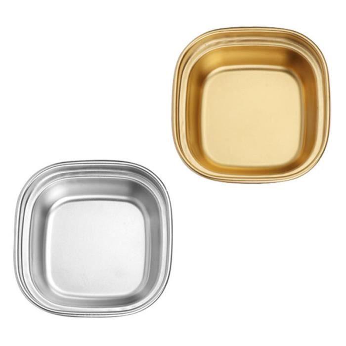 2pcs assaisonnement plats de vinaigre de pour la maison Restaurant Storage Hotel huiles sauces condiments