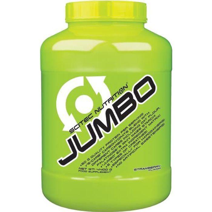 Scitec Jumbo 4400g FRAISE 4,4kg Proteine Gainer