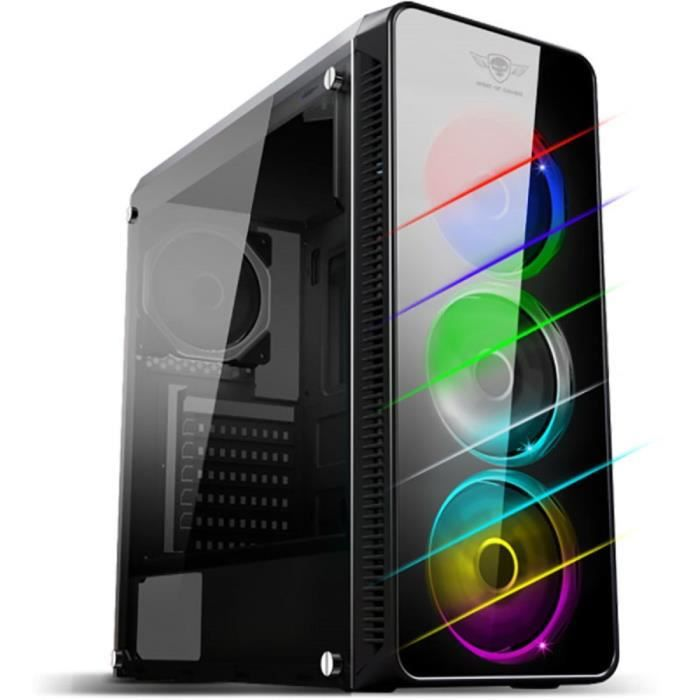 SPIRIT OF GAMER Boîtier PC, Chassis Gaming Deathmatch 7, RGB