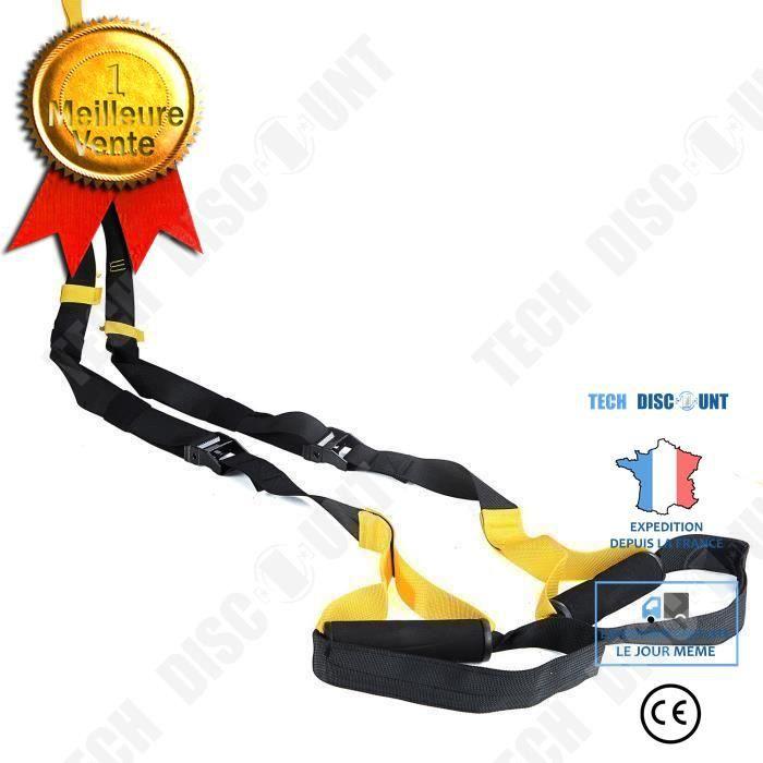TD® Ceinture d'entraînement de suspension Ceinture de tension de corde de suspension Ceinture de yoga Ceinture de fitness