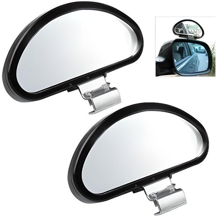 TRIXES 2 X Miroirs Réglables Grand Angle pour Angles Morts de Voiture Camionnette Remorque