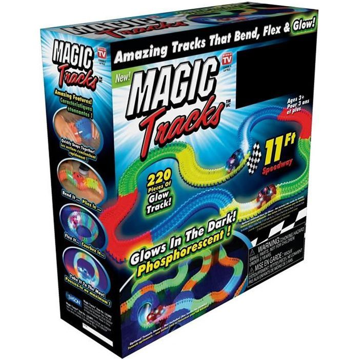 MAGIC TRACKS GLOW IN THE DARK BLUE CAR by Ontel Products