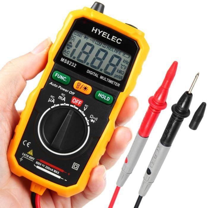 AKDSteel DT3266L Digital Clamp Meter Multimeter Voltage Current Resistance Tester for CE Accessories
