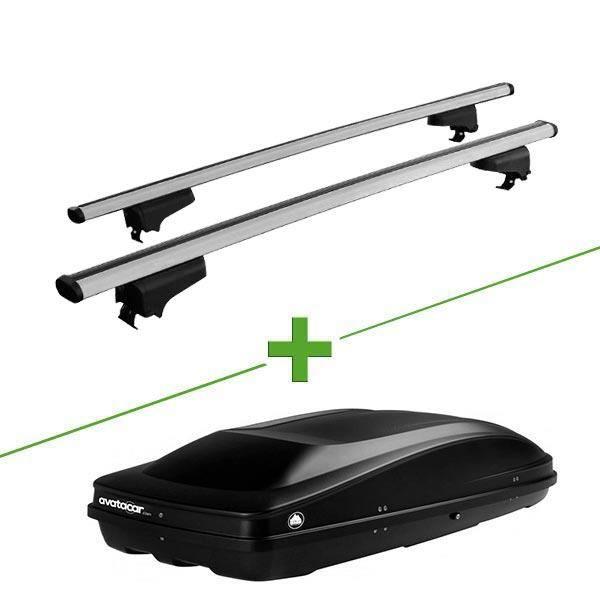 Pack barres et coffre de toit WABB WABB Rail + Wabb L pour Seat Altea XL 5 portes - 3664634648624