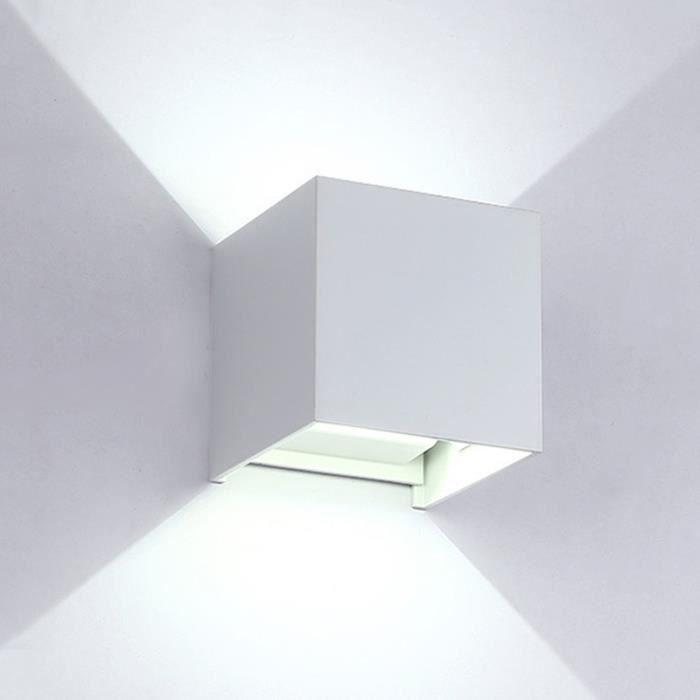 Applique Murale Led Lumière De Mur 480 Lumens Puissance 6w Lumière Blanche Blanc - Yonis