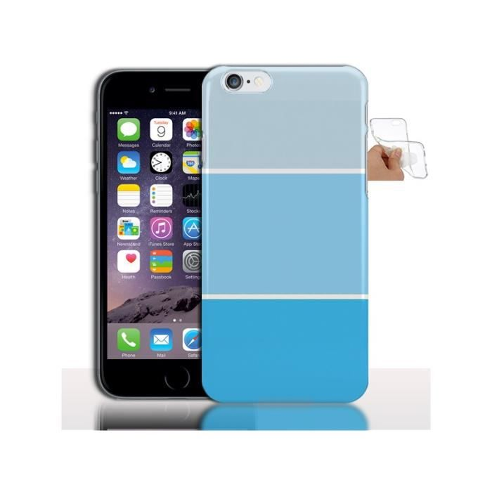 coque silicone iphone 6 bleu pastel