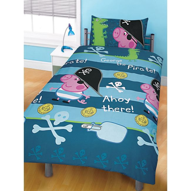 peppa pig parure housse de couette georges pi achat. Black Bedroom Furniture Sets. Home Design Ideas