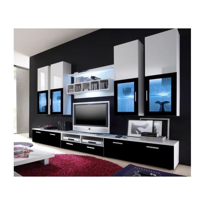 Mur tv grand alfa1 achat vente living meuble tv mur for Grand meuble tv