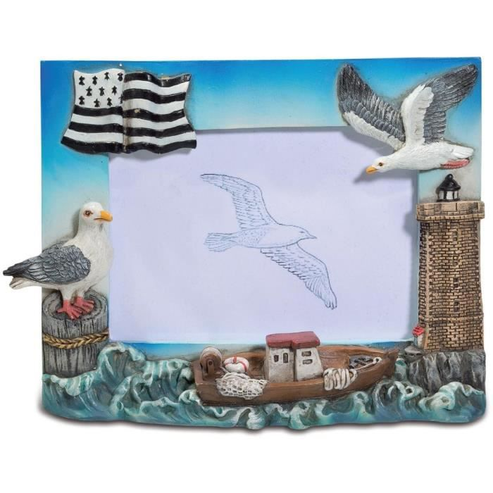 cadre photo figurine oiseau mouette d cor mer achat vente cadre photo r sine cdiscount. Black Bedroom Furniture Sets. Home Design Ideas