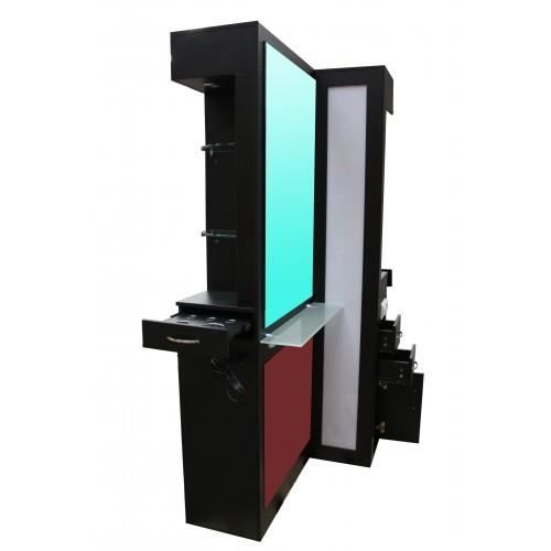double coiffeuse miroir salon coiffure a led achat vente coiffeuse double coiffeuse miroir. Black Bedroom Furniture Sets. Home Design Ideas
