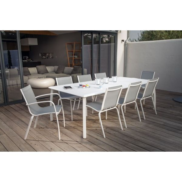 TABLE DE JARDIN  Table AZURO Blanc 225x100