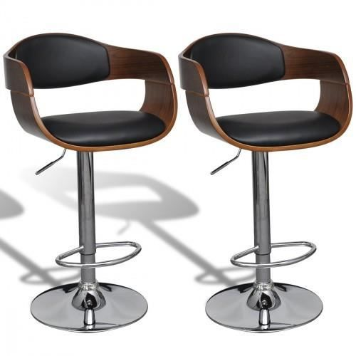 tabouret de bar cuir achat vente pas cher cdiscount. Black Bedroom Furniture Sets. Home Design Ideas