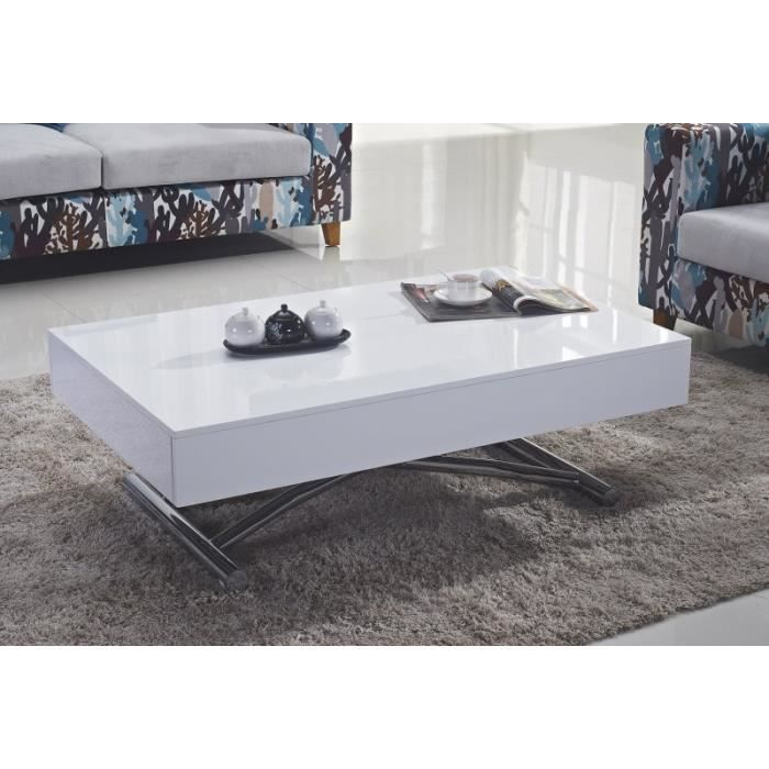 Table basse relevable cube blanche brillante e achat - Table basse relevable cdiscount ...