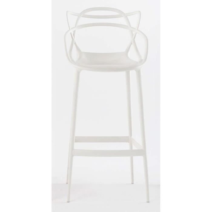 Kartell Tabouret Masters 75 Cm Blanc Achat Vente Tabouret