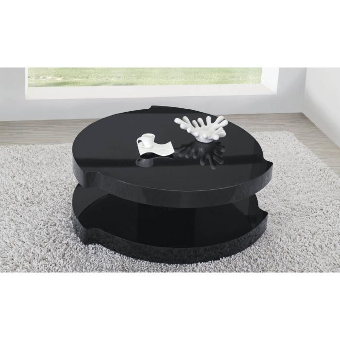table basse ronde bulle noir achat vente table basse table basse ronde bulle noir cdiscount. Black Bedroom Furniture Sets. Home Design Ideas