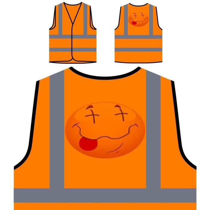 Personnalisée Art smiley Novelty Visibilité De Veste Face Orange Vintage À Haute Dreamer Dream Protection Funny q6xSxRt