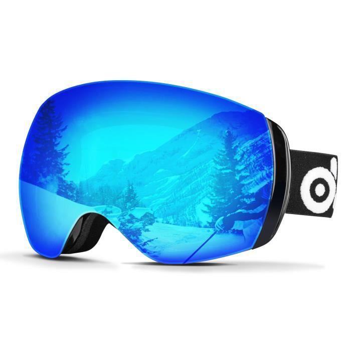 MASQUE - LUNETTES SKI Odoland Lunettes de Ski Masque de Snowboard Framel
