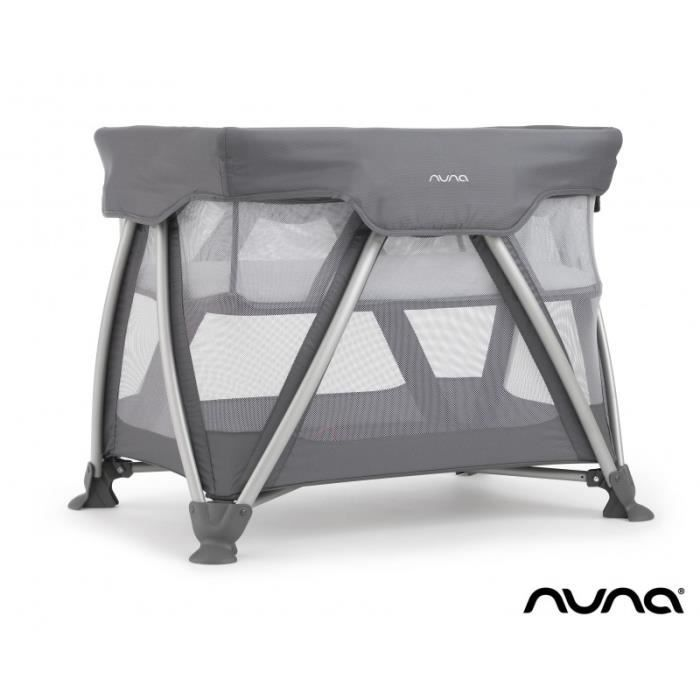 lit parapluie nuna petit mod le sena gris 0 12 mois achat vente lit pliant 8717903883624. Black Bedroom Furniture Sets. Home Design Ideas