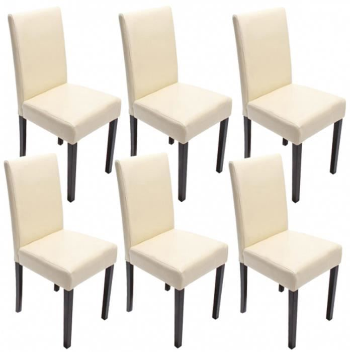 lot de 6 chaises de salle manger fauteuil cu achat vente chaise beige soldes d s le. Black Bedroom Furniture Sets. Home Design Ideas