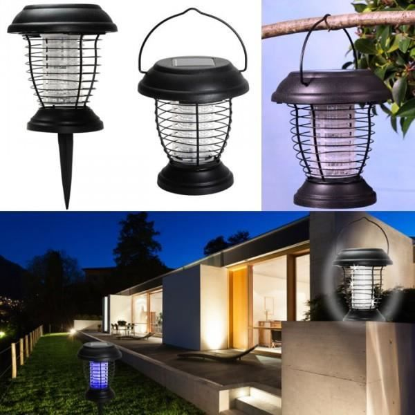 lanterne anti moustique nergie solaire 2 en 1 lampe anti insecte achat vente lanterne anti. Black Bedroom Furniture Sets. Home Design Ideas