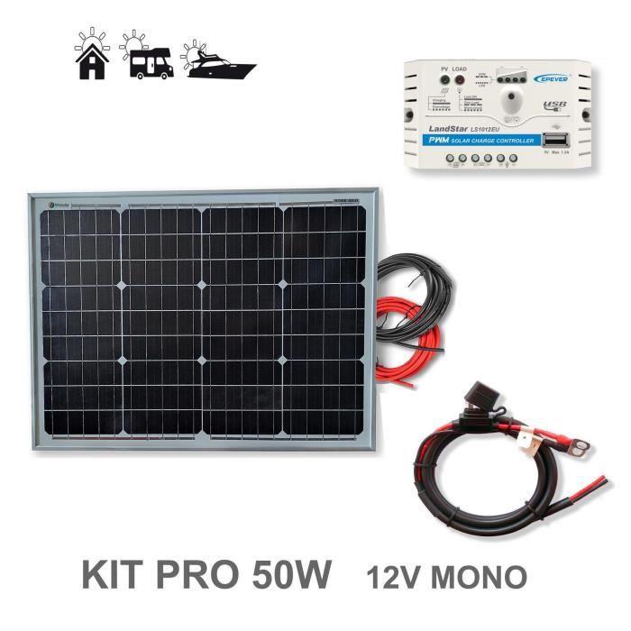 50-55 W 12 V Flexi panneau solaire à haute efficacité des cellules-camping-cars bateaux
