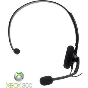 CASQUE AVEC MICROPHONE Micro-casque Filaire Noir XBOX 360