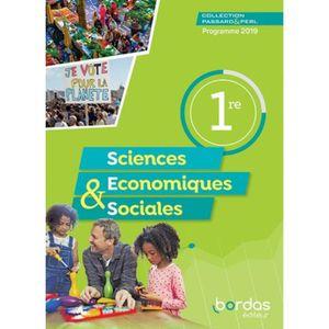 LIVRE SCIENCES Passard & Perl Sciences économiques et sociales 1r