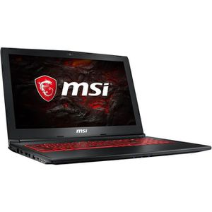 "Top achat PC Portable MSI PC Portable Gamer - GL62M 7REX- 15,6"" FHD - RAM 8Go - Intel i7-7700HQ - Stockage 1To HDD + 256Go SSD - GTX 1050 Ti 4Go - Sans OS pas cher"