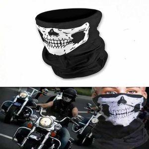 Tour de Cou Moto Tete de Mort Masque de Protection pour Sports de Plein Air et Cyclisme A Rameng