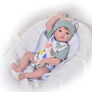 POUPÉE 57 cm Reborn Poupée À La Main Plein Silicone bebe